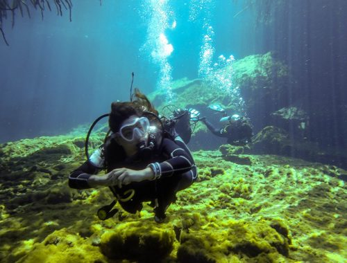 scuba diving in cenotes